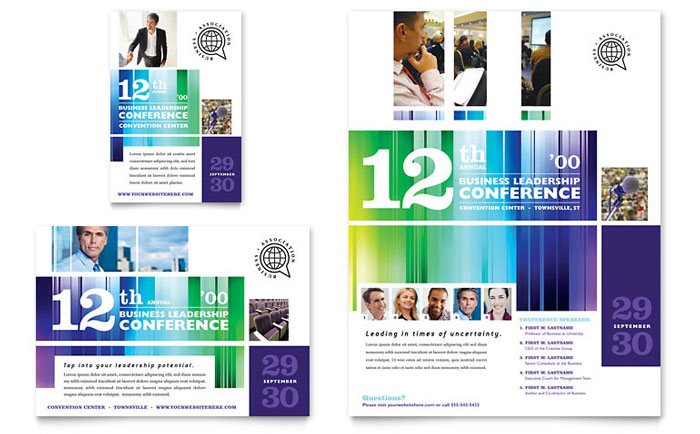 Business Leadership Conference Flyer  Ad Template - Word  Publisher