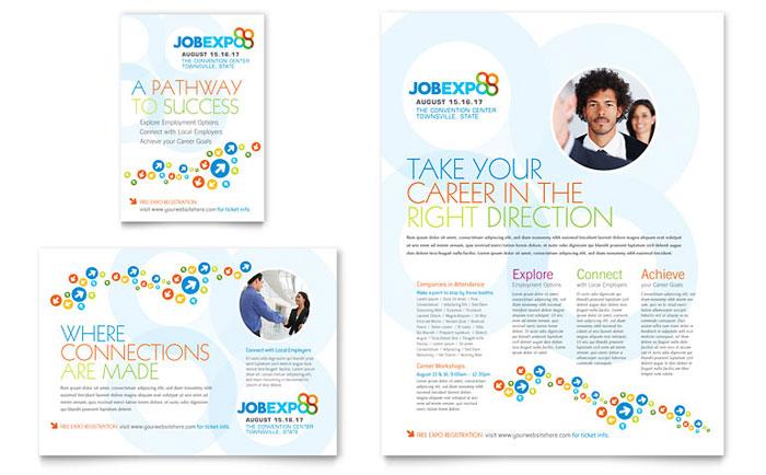 Job Expo  Career Fair Flyer  Ad Template - Word  Publisher