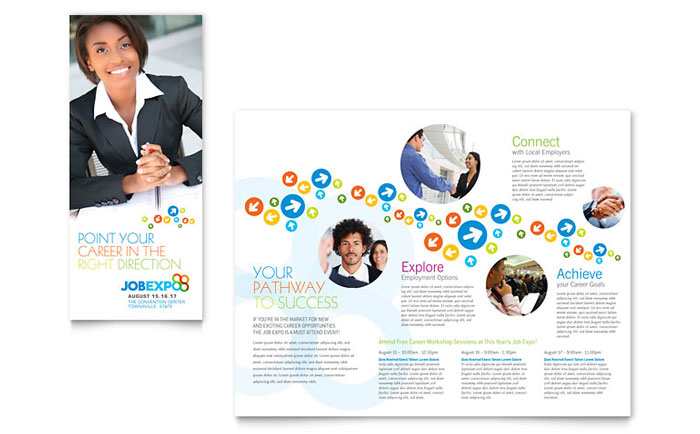 Staffing and Recruitment Agency Brochure Design Template by - free pamphlet
