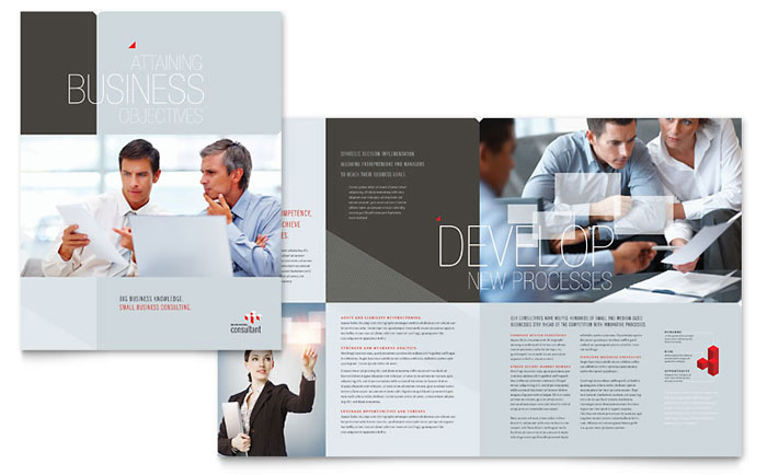 Corporate Business Brochure Template - Word  Publisher