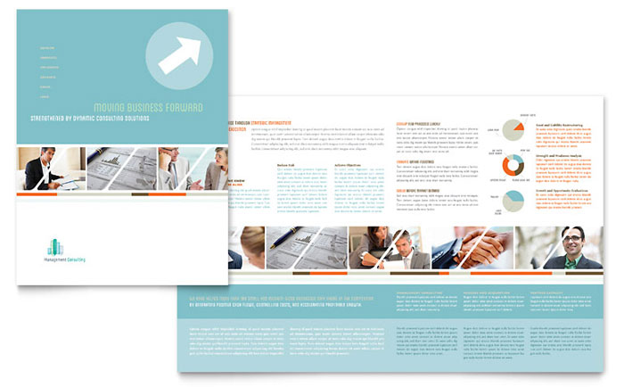 Management Consulting Brochure Template - Word  Publisher - brochure word templates
