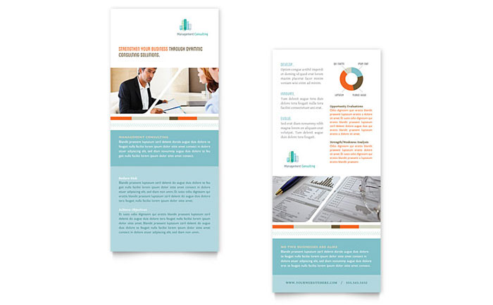 Management Consulting Rack Card Template - Word  Publisher