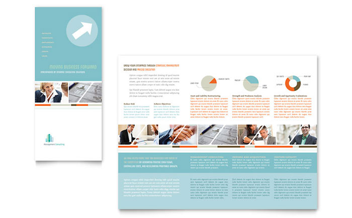 Management Consulting Tri Fold Brochure Template - Word  Publisher - brochure word templates