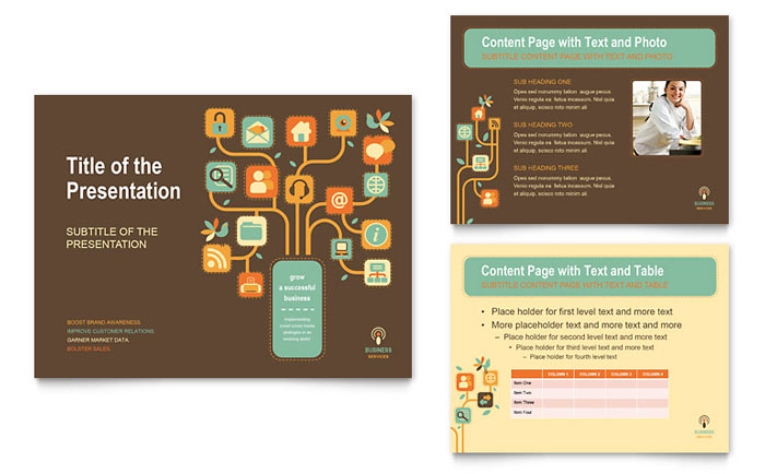 Business Services PowerPoint Presentation - PowerPoint Template