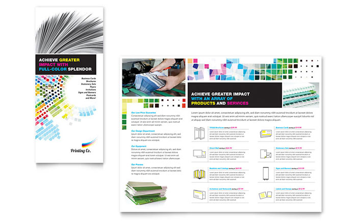 Printing Company Brochure Template - Word  Publisher