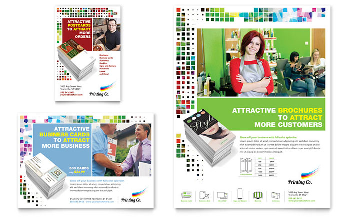Printing Company Flyer  Ad Template - Word  Publisher