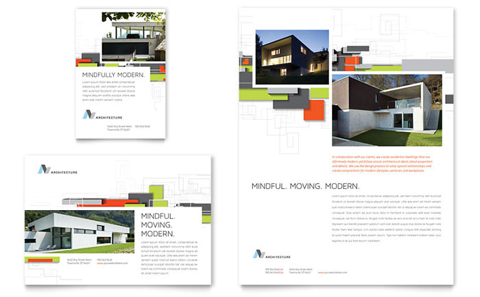 Architectural Design Flyer  Ad Template - Word  Publisher