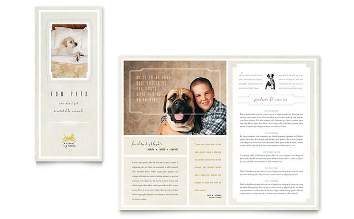 Pet Hotel  Spa Brochure Template - Word  Publisher - spa brochure template