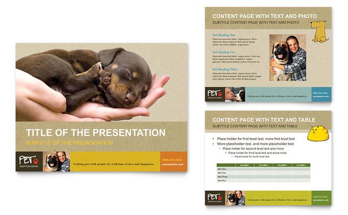 Animal Shelter \ Pet Adoption PowerPoint Presentation - PowerPoint - powerpoint flyer template