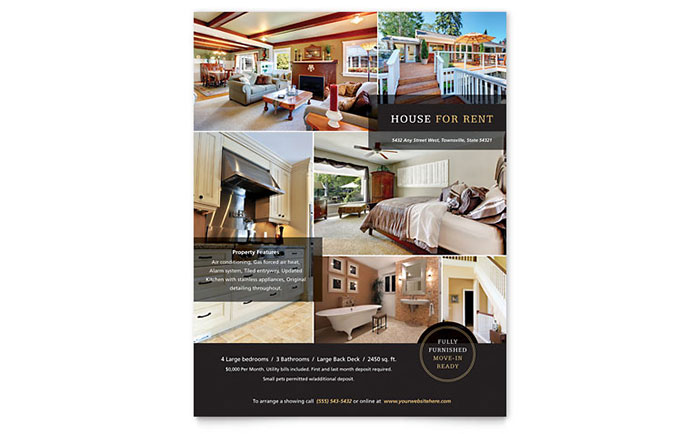 House for Rent Flyer Template - Word  Publisher - apartment for rent flyer