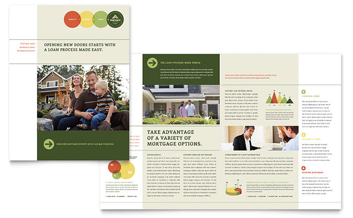 Mortgage Broker Brochure Template - Word  Publisher