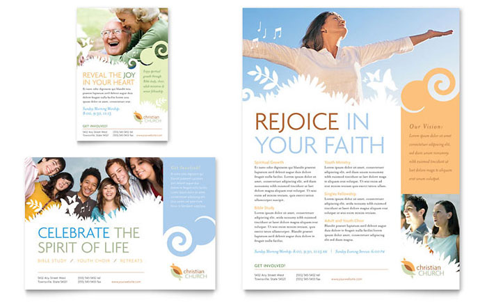 christian church flyers templates - microsoft word template flyer