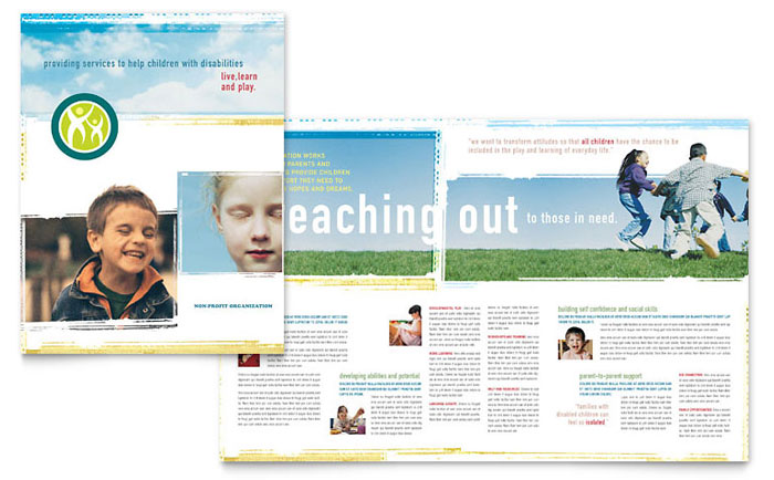 Special Education Brochure Template - Word  Publisher