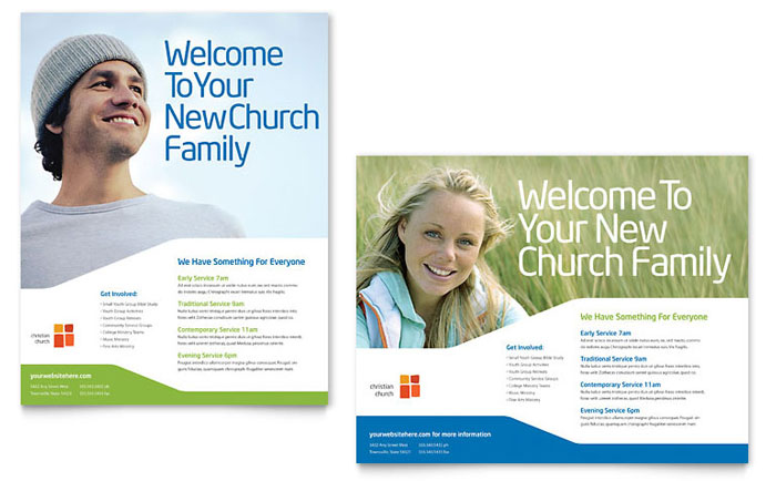 Church Youth Ministry Poster Template - Word  Publisher
