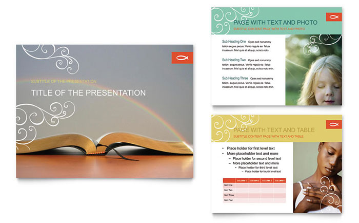 Christian Church Religious PowerPoint Presentation - PowerPoint Template - religious powerpoint template