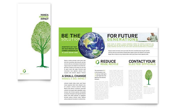 Environmental Non Profit Tri Fold Brochure Template - Word \ Publisher - microsoft word tri fold brochure