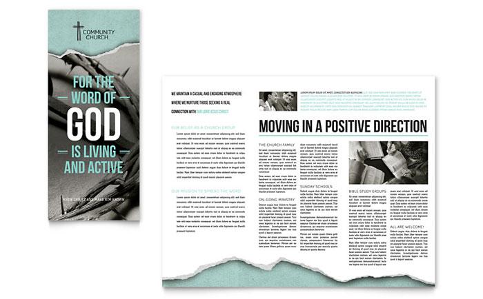 Bible Church Brochure Template - Word  Publisher