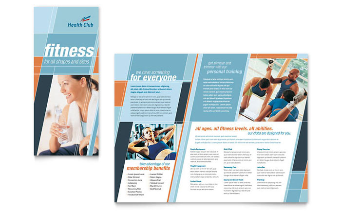 Health  Fitness Gym Brochure Template - Word  Publisher