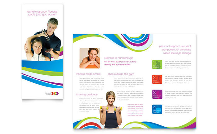 Personal Trainer Brochure Template - Word  Publisher