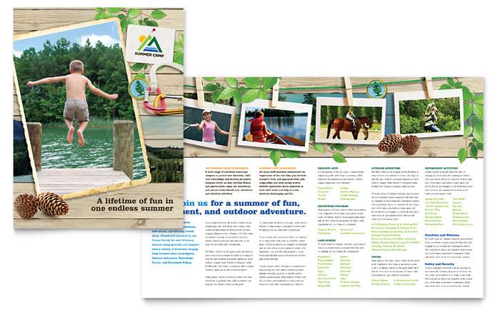 Kids Summer Camp Brochure Template - Word  Publisher