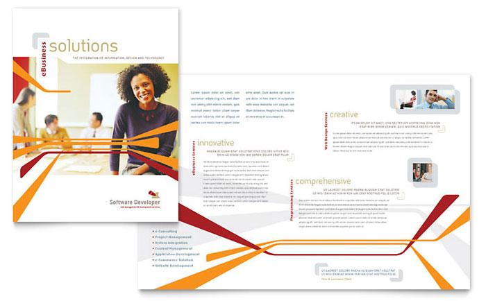 Software Developer Brochure Template - Word  Publisher