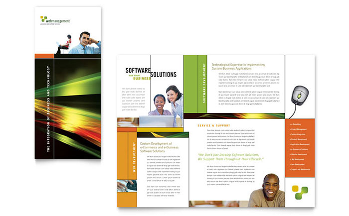 Internet Software Brochure Template - Word  Publisher - Brochures On Word
