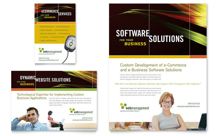 Internet Software Flyer  Ad Template - Word  Publisher
