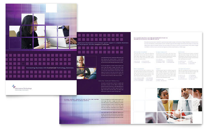 Information Technology Brochure Template - Word  Publisher