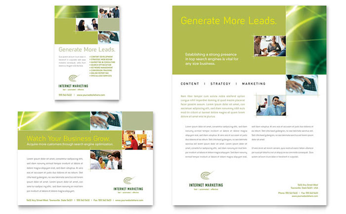 Internet Marketing Flyer  Ad Template - Word  Publisher