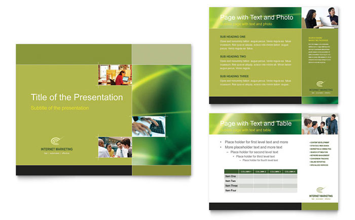 Internet Marketing PowerPoint Presentation - PowerPoint Template