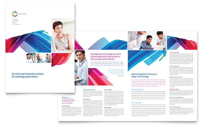 Software Solutions Brochure Template - Word  Publisher
