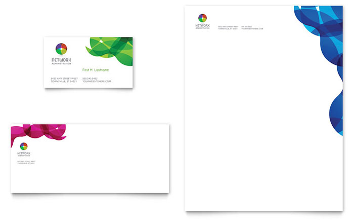 Technology - Stationery Templates - Word  Publisher - microsoft stationery template