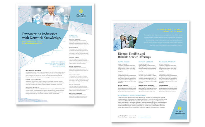 Global Network Services Datasheet Template - Word  Publisher