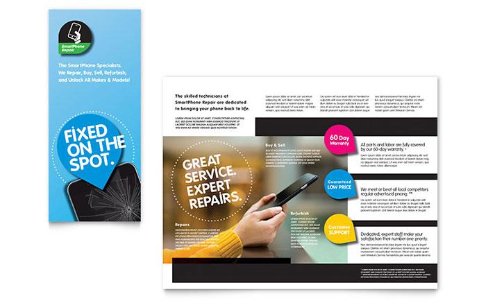 Smartphone Repair Brochure Template - Word  Publisher - product brochure template