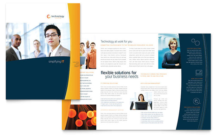 Free Brochure Template - Download Word  Publisher Templates - brochure format word