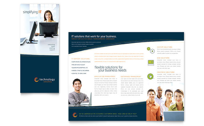 Free Tri-Fold Brochure Template - Download Word  Publisher Templates - Brochure Template Free Download Microsoft Word