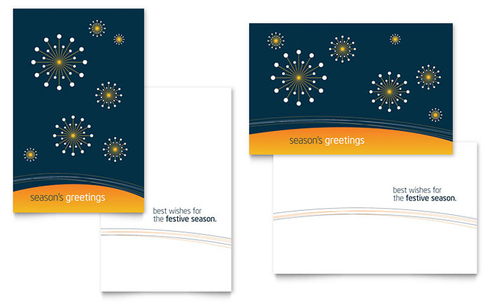 Free Greeting Card Template - Download Word  Publisher Templates - Birthday Card Sample