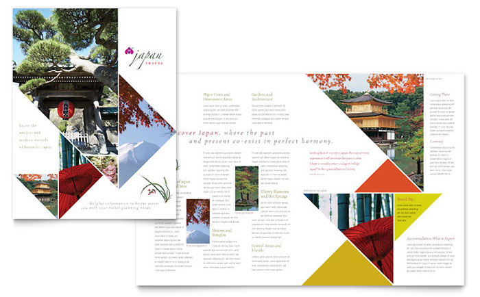 Japan Travel Brochure Template - Word  Publisher