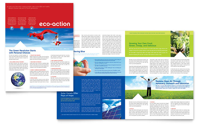 Green Living  Recycling Newsletter Template - Word  Publisher - email newsletter template word
