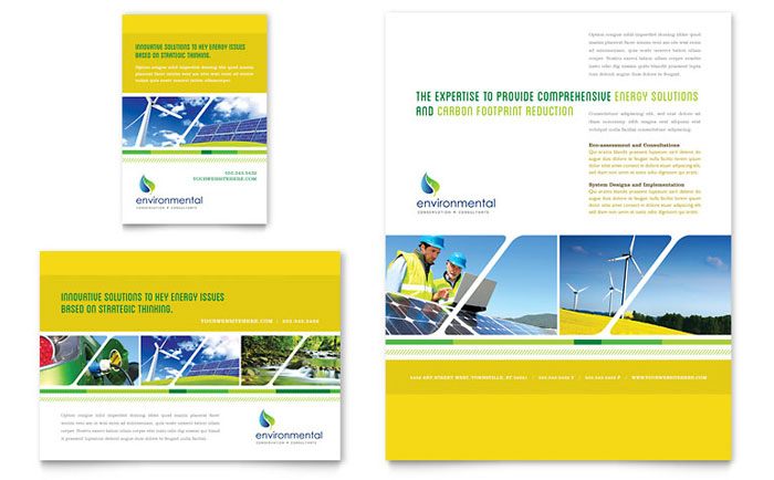 Environmental Conservation Flyer  Ad Template - Word  Publisher - flyer layout templates