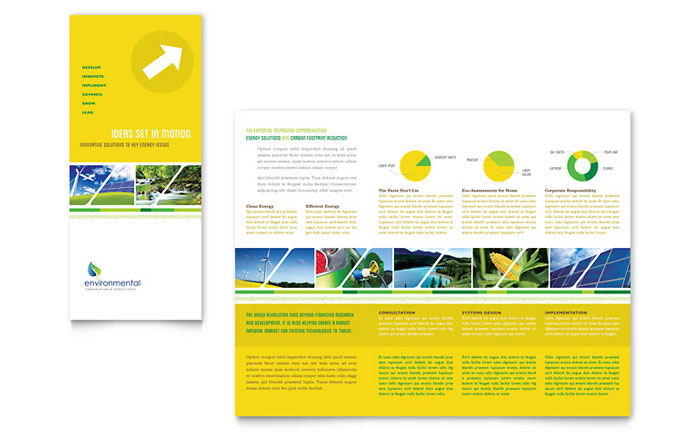 Environmental Conservation Tri Fold Brochure Template - Word  Publisher