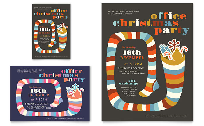 Christmas Party Flyer  Ad Template - Word  Publisher - free printable christmas flyers templates