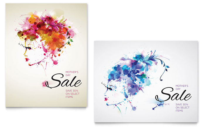 Mother\u0027s Day Sale Poster Template - Word  Publisher - for sale poster template