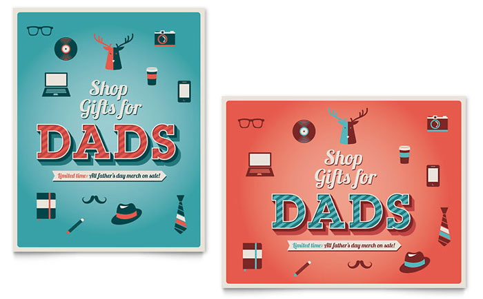 Father\u0027s Day Sale Poster Template - Word  Publisher