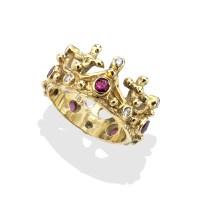 Gold Crown Ring