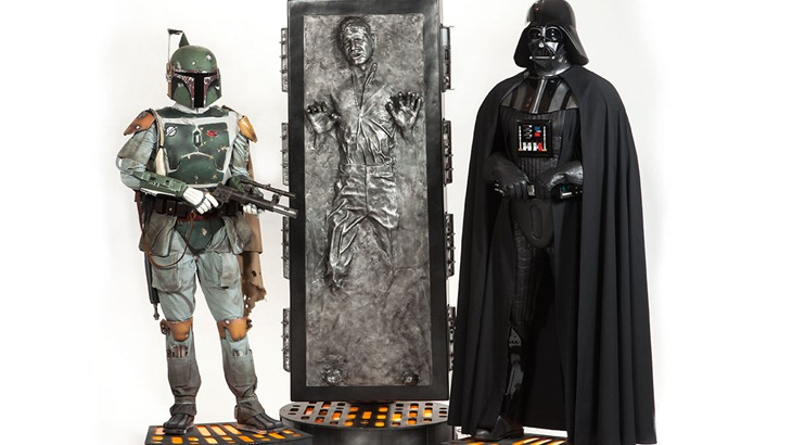 nice coffee table – a lifesize han solo frozen in carbonite