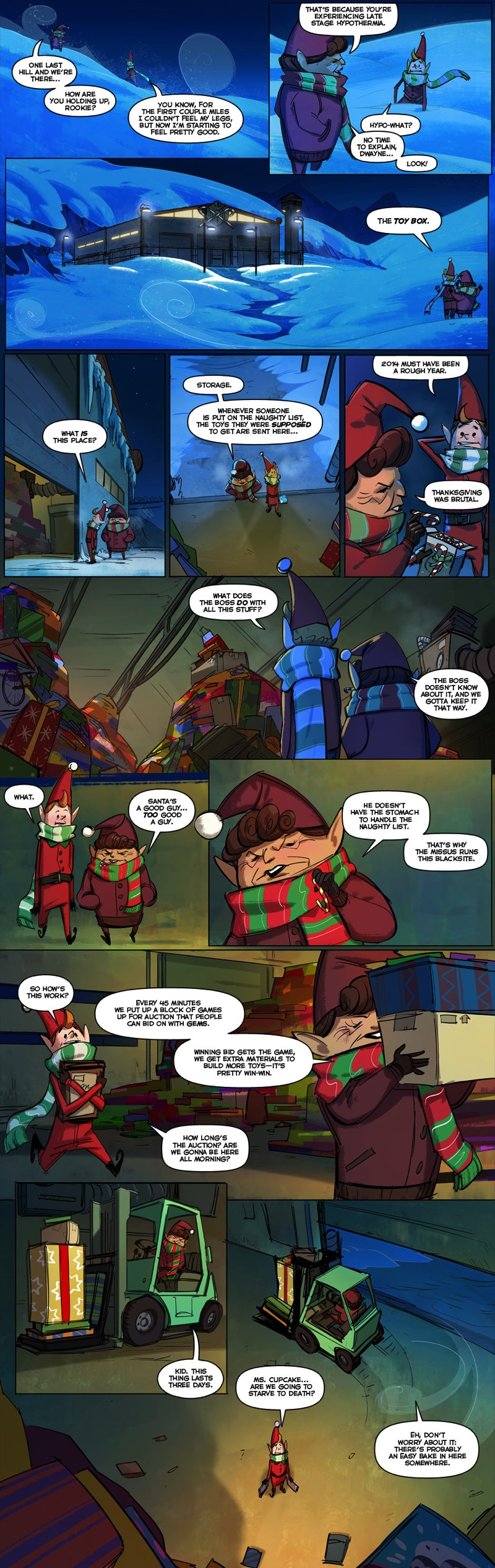 Holiday auction comic