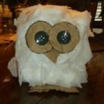 hootie owls-glue eyes, beak and feet on owl