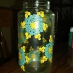 dot painted jar. 6