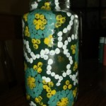 dot painted jar. 8